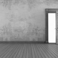まるで錆び加工をしたような 風合いの室内ドア。